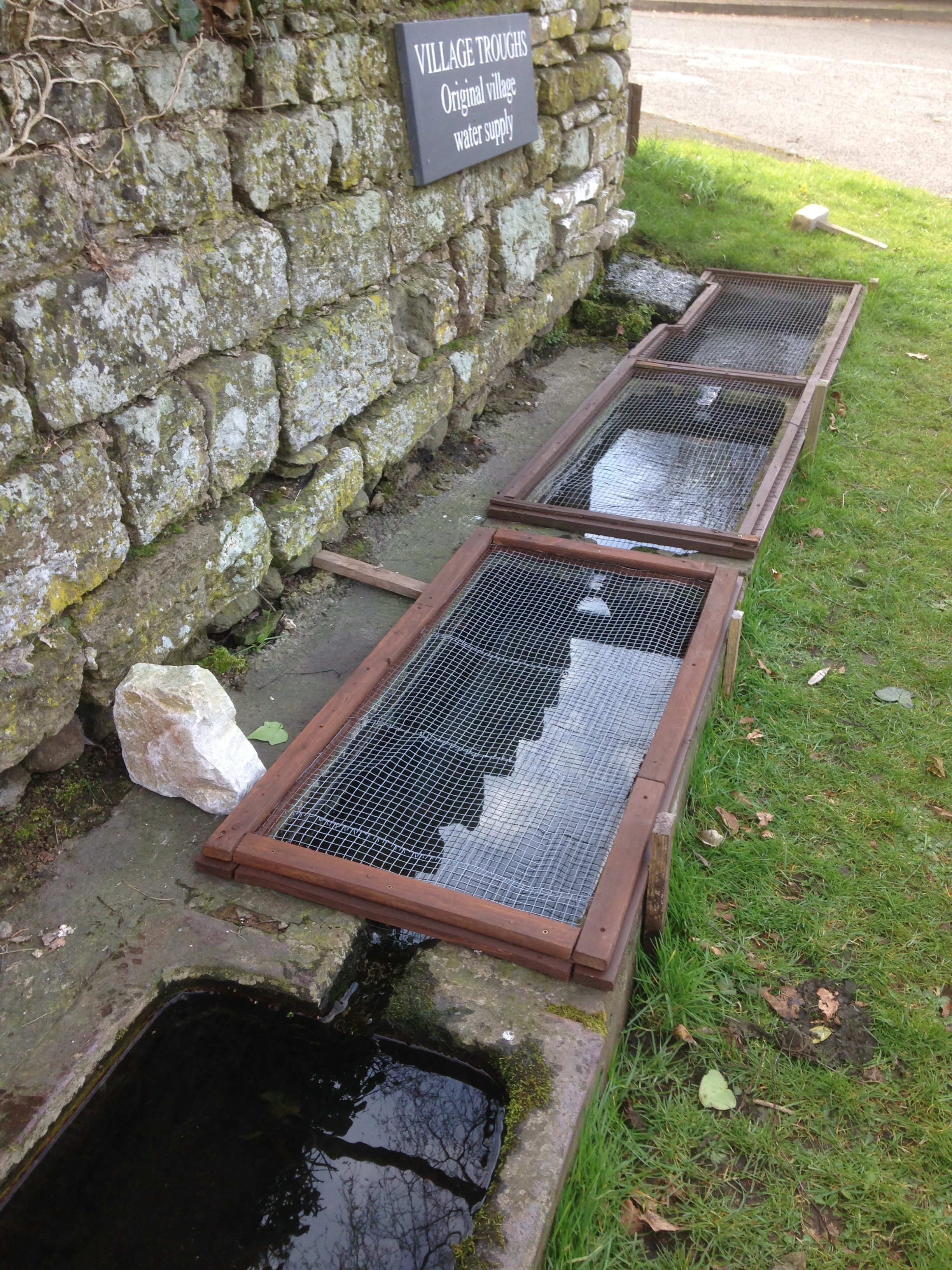 Top three troughs with stone
