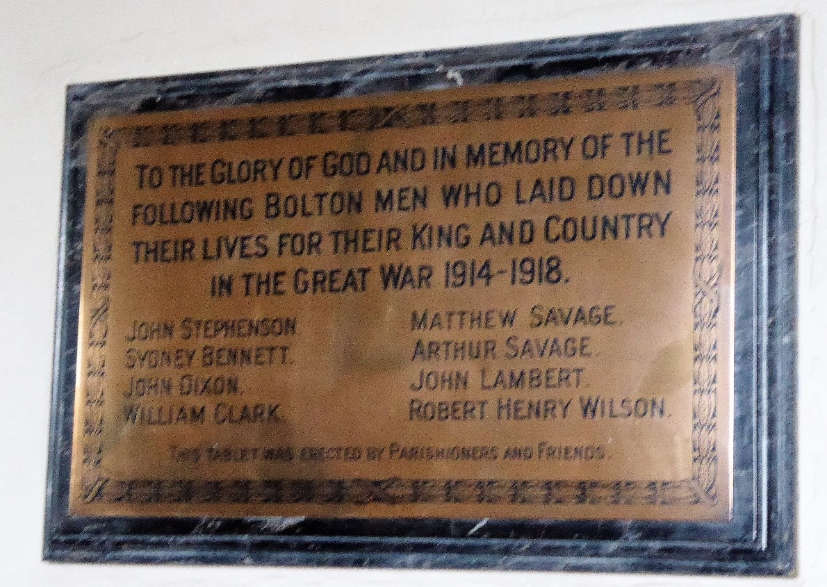 WW1 Plaque